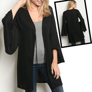 Sweaters - Long Bell SLeeve Cardigan